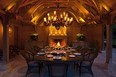 dining in an English Mansion