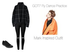 """""""GOT7 Fly Dance Practice Mark Inspired Outfit"""" by cyberd0ll ❤ liked on Polyvore…"""