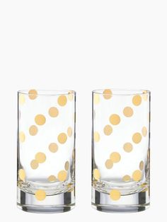 Gold Dot Hiball Set / Kate Spade