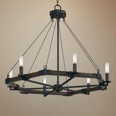 "Blacksmith Collection 28"" Wide Iron Chandelier - #5F593 | LampsPlus.com"
