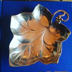 Brass leaf dish. 9x8 $28 #brassisback #brassleaf #shopthealist #details #catchall
