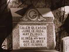 My great-great-great Grandfather, Caleb Gleason.  Born in 1804 when Thomas Jefferson was President.
