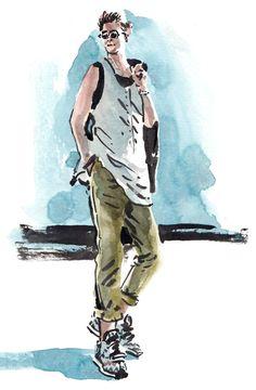 Daily Fashion Illustration, Wylie Fresne