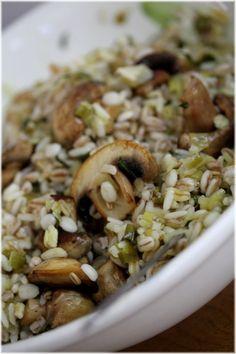 סלט דגניםבבצלים ופטריות - ביסים