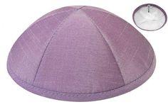 Lavender Raw Silk Kippah