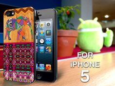 TP138 aztec elephant cross on wood Iphone 5 case | TheYudiCase - Accessories on ArtFire