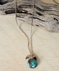 Long Turquoise Necklace 34 Necklace Turquoise by LeoandLovey