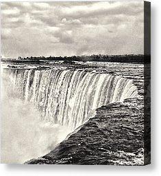 - Niagara Falls Canvas Print by Garvin Hunter Black And White Canvas, Black And White Prints, Canvas Art For Sale, Canvas Art Prints, Kodak Moment, Niagara Falls, In This Moment, Wall Art, Random Things