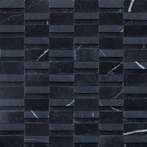 High Low Random Polished and Honed Nouveau Nero - Stone a' la Mod by daltile