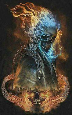 Ghost Rider. Artist unknown.