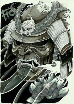 Máscara samurai:
