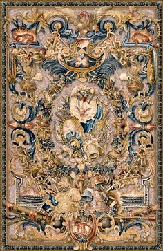 Le Feu tapestry, The Fire tapestry, was woven in the century for a Paris convent, now at the Palace of Versailles. A very detailed Belgian wall-hanging Medieval Tapestry, Medieval Art, Medieval Times, Textiles, Motif Art Deco, French Decor, Oeuvre D'art, Textile Art, Old World