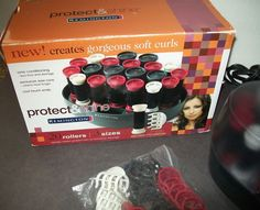 Remington KF-20i Protect Shine Flocked Ionic Hair Setter 20 Rollers Pageant Hot #Remington