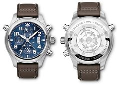 """Limited Edition of Pieces IWC Schaffhausen sends the new Pilot's Watch Double Chronograph Edition """"Le Petit Prince"""", complete with an innovative jumping star display for the… Iwc Watches, Cool Watches, Watches For Men, International Watch Company, Iwc Pilot, Limited Edition Watches, Casio Watch, Luxury Watches"""