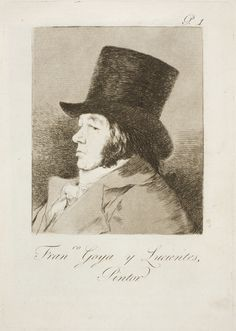 Capricho № 1: Francisco Goya y Lucientes, pintor (Francisco Goya y Lucientes, painter)
