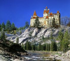 """Törcsvár (Bran Castle) was built in the Kingdom of Hungary more than 600 years ago. It became the property of Romania when Erdély (Transylvania) was given to them in the """"Treaty of Trianon"""" in Comte Dracula, Oh The Places You'll Go, Places To Visit, Dracula Castle, Visit Romania, Romania Travel, Beautiful Castles, Eastern Europe, Vacation Spots"""