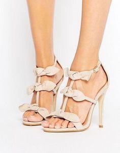 Public Desire Bow Heeled Sandals