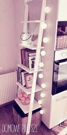 Zobacz zdjęcie Drabinka dekoracyjna.  Znajdź na Facebooku: Nasze Domowe Pielesze <3