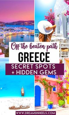 Want to see Greece off the beaten path? Here are the best hidden gems in Greece + Secret Greece local tips by a Native Greek. Off the beaten path Greece | Greece Travel | Greece Travel Itinerary | Greece Vacations | Greece Aesthetic | Greece Photography | Greece Travel Photography | Greece Tips | Greece Hidden Gems | Greece history | Greece historical sites | Greece hiking | Greece hikes | Greek islands | Best Greek Islands | Greece islands top 10 | Greece island hopping | Greek islands… Greek Islands Vacation, Best Greek Islands, Greece Vacation, Greece Islands, Greece Travel, Vacation Trips, Greece Itinerary, Greece Trip, Vacations