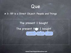French Relative Pronouns Qui, Que in French - YouTube