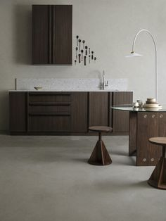 La collection Wood par Superfront | MilK decoration Ikea Kitchen Units, Ikea Units, Veneer Door, Wood Veneer, Ikea Furniture, Bathroom Furniture, Wabi Sabi, Dressing Pax, Dark Wood Kitchens