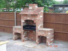 Diy outdoor grill ideas garden ideas on bricks raised beds and brick build outdoor grill Brick Built Bbq, Brick Grill, Built In Grill, Outdoor Barbeque, Barbecue Pit, Bbq Grill, Bbq Chimney, Grill Design, Barbecue Design