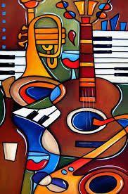 Pop Art Canvas Print featuring the painting Jam Session By Fidostudio by Tom Fedro - Fidostudio pop, Jam Session By Fidostudio Canvas Print / Canvas Art by Tom Fedro - Fidostudio Arte Jazz, Jazz Art, Music Painting, Music Artwork, Arte Pop, Guitar Art, Easy Guitar, Art Abstrait, African Art