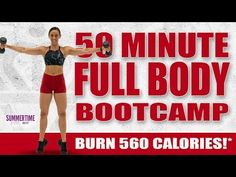 Day 87 - 50 Minute Full Body Bootcamp Workout ⁴Sydney Cummings In this informative article, Interval Training Workouts, Dumbbell Workout, High Intensity Interval Training, Fitness Workouts, Tummy Workout, Training Schedule, Training Equipment, Fitness Tips, Glute Bands