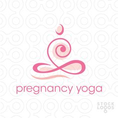 A beautiful flowing logo depicting a person sitting in a common yoga position