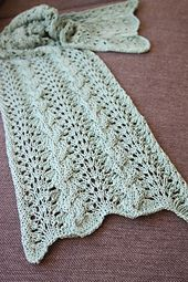 Ravelry: Cabled Chevron Scarf pattern by A la Sascha