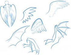 how to draw anime wings, draw an anime angel step 3