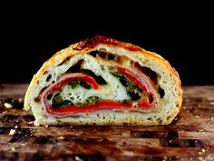 To start – Holy Stromboli! (Sorry, I had to, it was there for the taking.). One of my favorite sandwiches in the world is prosciutto, fresh mozzarella and roasted red peppers or in Jersey Ita…