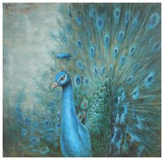 peacock+mural | ... Peacock - Compare and Buy the Low Price Classical Painting Peacock