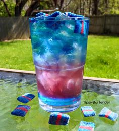 The Outer Galaxy Cocktail - For more delicious recipes and drinks, visit us here: www.tipsybartender.com