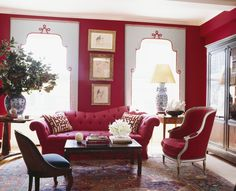 Modern Living Rooms Design with Red Couch and Red Sofa 6 Living Room Red, Living Room Modern, Living Room Designs, Elle Decor, Classic Decor, Classic Style, Red Home Decor, Red Sofa, Red Couches