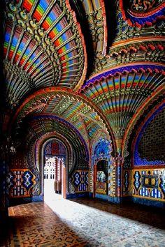 Peacock room in the Sammezzano castle in Italy