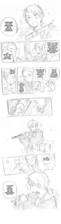 Private Concert (1/5) Creator: Hidekazu Himaruya, Anime: Hetalia, Character: Prussia and Germany>>>       :3