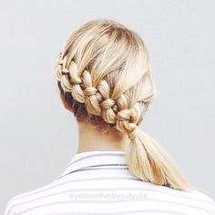 Four strand braid into a low side ponytail French Braid Hairstyles, Pretty Hairstyles, Summer Hairstyles, Four Strand Braids, Hair Day, Gorgeous Hair, Look Fashion, Hair Hacks, Her Hair