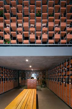 tropical space constructs vietnamese showroom with clay brick + metal frame system – Interiors Tropical Architecture, Architecture Plan, Architecture Details, Industrial Office Design, Industrial Interiors, Modern Outdoor Living, Retail Boutique, Brick Design, Space Photos