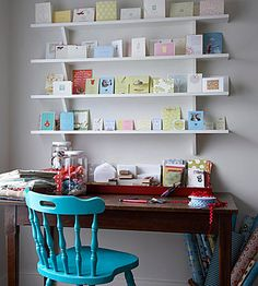 A place to display cards...especially when I'm working on an order or holiday set.