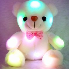 Soft Plush Colorful LED Glowing Bear Kids Toys Christmas Birthday Decor Gifts for sale online Mini Teddy Bears, Teddy Bear Toys, Xmas Gifts For Kids, Kids Christmas, Christmas Birthday, Christmas Cards, Baby Birthday, Kids Gifts, Christmas Sale