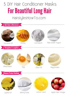3 DIY Hair Conditioner Masks for Beautiful & Long Hair - Keep your hair strong, . 3 DIY Hair Conditioner Masks for Beautiful & Long Hair - Keep your hair strong, looking shiny, feeling soft and grow Hair Growth Tips, Hair Care Tips, Hair Mask For Growth, Hair Mask For Damaged Hair, Diy Hair Mask For Dry Hair, Long Hair Tips, Good Hair Masks, Egg Mask For Hair, Home Made Hair Mask
