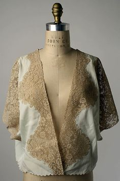 Bed jacket Date: 1920s Culture: American or European Medium: silk, cotton Accession Number: 1978.583.42