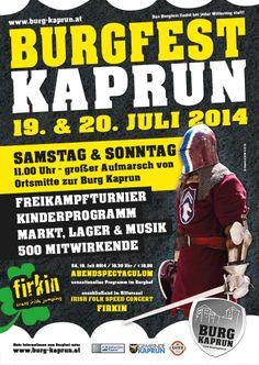 Kaprun Castle - Burg Kaprun in the heart of Pinzgau - Events פסטיבל ימי ביניים בטירה בקפרון ביולי