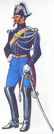 uniforme du gendarme départemental sous le scond empire, gendarmerie impériale
