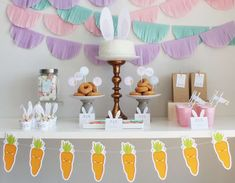 Bunnies / Rabbits Easter Party Ideas | Photo 1 of 13