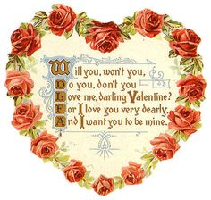 75 best victorian valentine images on pinterest in 2018 vintage valentines day quotes victorian valentine heart shaped wreath of red roses with poem quotes sayings m4hsunfo