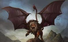 The manticore is a creature that reassebles the Sphinx as it also possessed the body of a lion and the head of a human. The manticore started as a Persian mythology creature but was later reflected in the Greek mythology