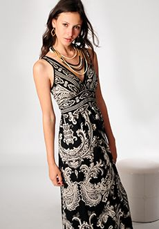 Homecoming Trunk Shows - Paisley Scroll Maxi Dress