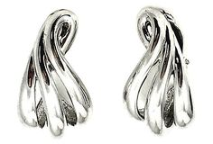 Givenchy Silvertone Earrings